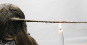 Velaterapia, flammklippning